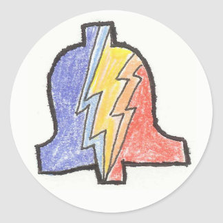 5 Farbehand gezeichneter Winkel- des Runder Aufkleber
