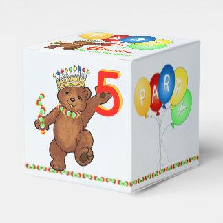 5. Geburtstag Party-Gewohnheit Teddy-Bärn-Prinz- Geschenkschachteln