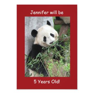 5. Geburtstags-Party Einladung, doppelseitiges Karte