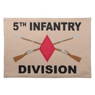 5. Infanteriedivision - gekreuzte Gewehre - mit Tischset
