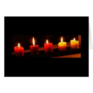 5 Kerzen Grußkarte