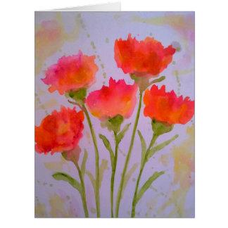 5 klare Watercolor-Blumen-Gruß-Karte durch Julie Karte