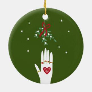 5 Ringe an Tag 5 von Weihnachten Keramik Ornament