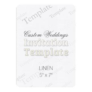"""5"""" x 7"""" faire-part de mariage fait sur commande de carton d'invitation  12,7 cm x 17,78 cm"""