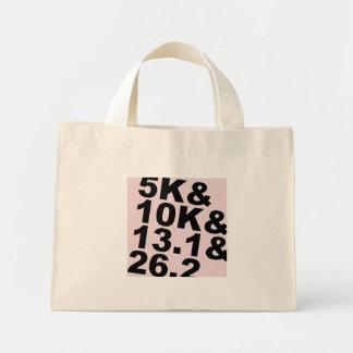 5K&10K&13.1&26.2 (Schwarzes) Mini Stoffbeutel