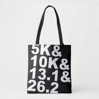 5K&10K&13.1&26.2 (weiß) Tasche