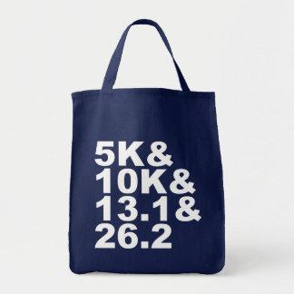 5K&10K&13.1&26.2 (weiß) Tragetasche