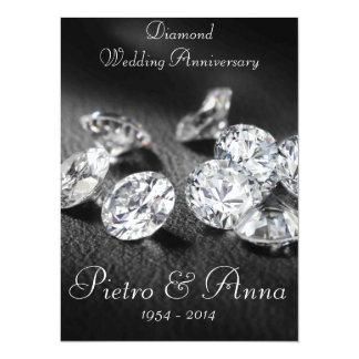 60. Diamant-Hochzeitstag-Einladung 14 X 19,5 Cm Einladungskarte