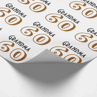 60. Geburtstag für eine Großmutter, Gold, schwarz Geschenkpapier