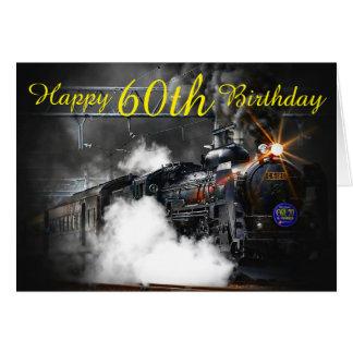 60. Geburtstags-Dampfzugkarte Karte