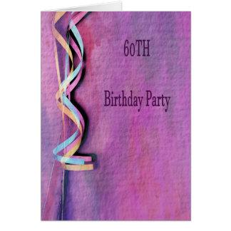 60. Geburtstags-Party Karte