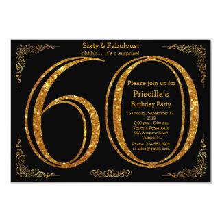 60., Geburtstags-Party, sechzig, Gatsby, Schwarzes Karte