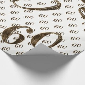 60. Goldene Hochzeitstag-Typografie elegant Geschenkpapier