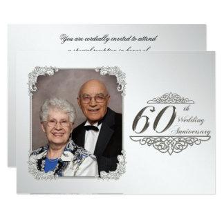 60. Hochzeits-Jahrestags-Foto-Einladungs-Karte 11,4 X 15,9 Cm Einladungskarte