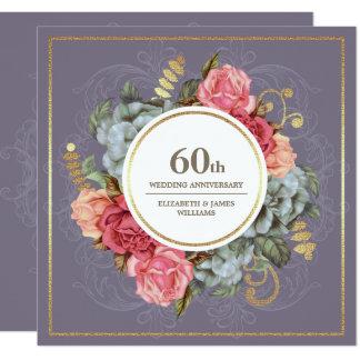 60. Hochzeits-Jahrestags-Party Einladungen