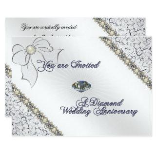 60. Hochzeitstag-Einladungs-Karte 12,7 X 17,8 Cm Einladungskarte