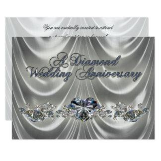 60. Hochzeitstag-Einladungs-Karte Karte