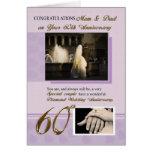 60. Hochzeitstag, Mamma u. Vati Grußkarten