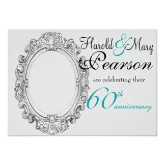 60. Hochzeitstageinladung 12,7 X 17,8 Cm Einladungskarte