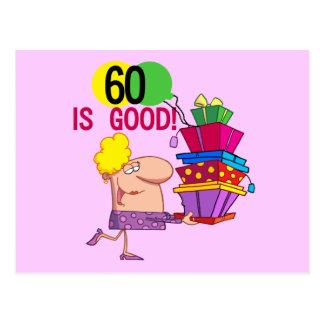 60 ist gute Geburtstags-T-Shirts und Geschenke Postkarte