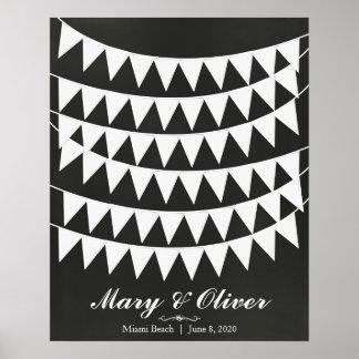 60 Tafel-Flaggen-Hochzeits-Gast-Buch-Plakat Poster