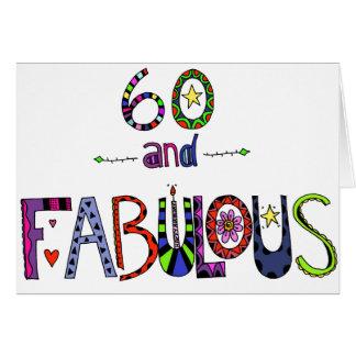 60 und fabelhafter 60. Geburtstag Karte
