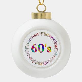 60er Musik Keramik Kugel-Ornament
