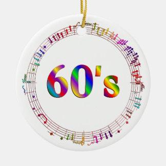 60er Musik Keramik Ornament