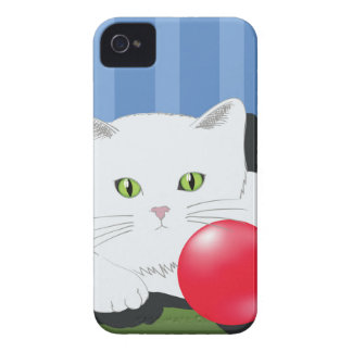 63White Cat_rasterized Case-Mate iPhone 4 Hülle