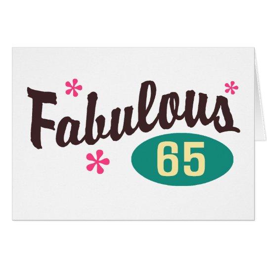65. Geburtstag Grußkarte