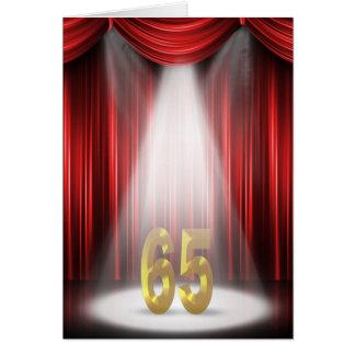 65. Geburtstag Karte