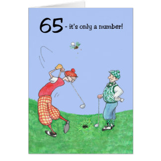 65. Geburtstags-Karte für einen Golfspieler Grußkarte