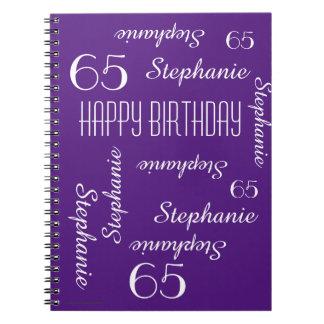 65. Geburtstags-Party-Gast-Buch, Namen Spiral Notizblock