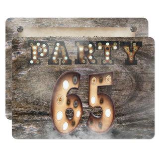 65. Geburtstags-Party in den Festzeltlichtern Karte