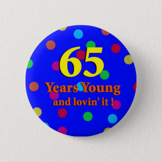 65. Jahre Junge-Knopf- Runder Button 5,1 Cm