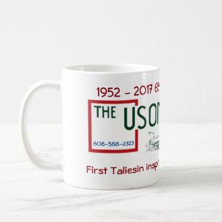 65. Jahrestags-klassische weiße Tasse