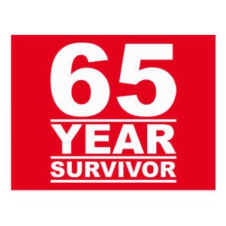 65-jähriger Überlebender Postkarte