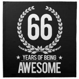 66 Geburtstag Servietten Zazzlech
