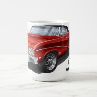 68 Buick GS im Scharlachrot Rot- Kaffeetasse