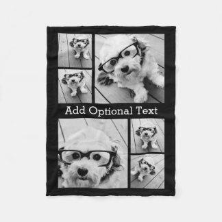 6 Foto-Collagen-optionaler Text -- KANN Farbe Fleecedecke