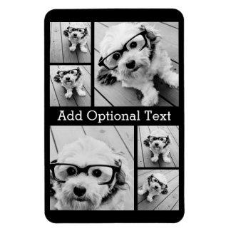 6 Foto-Collagen-optionaler Text -- KANN Farbe Magnet