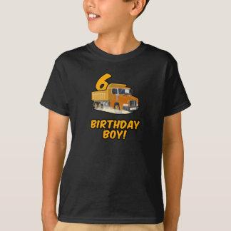 6. Geburtstags-Kipper-T-Shirt - Jungen-Geburtstag T-Shirt