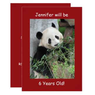 6. Geburtstags-Party Einladung, doppelseitiges Karte