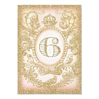 6. Geburtstags-Traumgroßes 12,7 X 17,8 Cm Einladungskarte