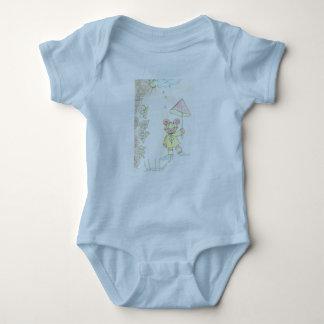 6 Monate Baby-T - Shirt hellblau