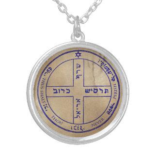 6. Pentagramm von Jupiter Versilberte Kette