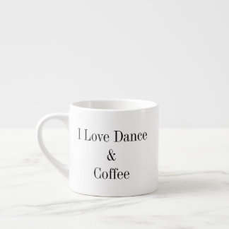 6 Unze. Espresso-Tasse - i-Liebe-Tanz u. Kaffee Espressotasse