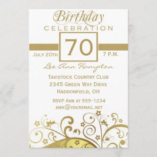 70. - 79. Geburtstags-Party Einladungen