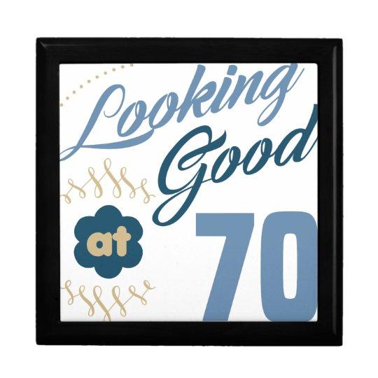 70. Geburtstag schauend gut Große Quadratische Schatulle