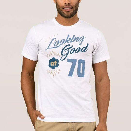 70. Geburtstag schauend gut T-Shirt